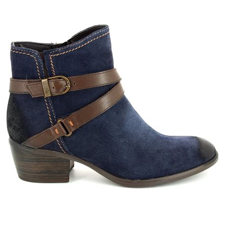 tamaris becka 25010 833 navy suede ankle boots