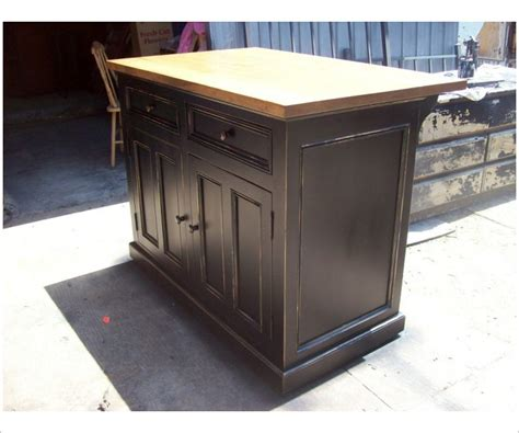 kitchen island with raised panels