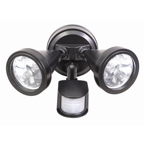 Brilliant 240v Lamy Twin Black Security Sensor Flood Light Sensored Outdoor Lights
