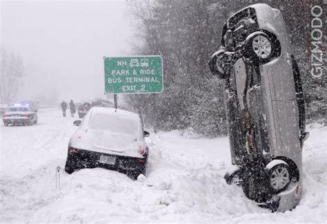 snow storm car