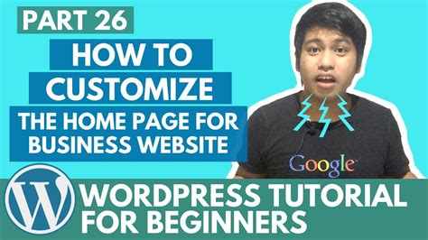 website tutorial for beginners wordpress tutorial for beginners how to customize the
