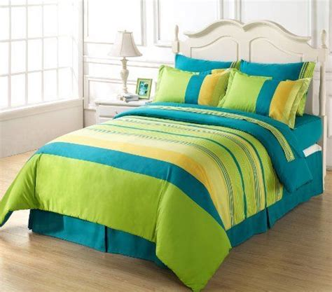 pin  heather mcclain  apartment ideas   striped bedding green bedding comforters