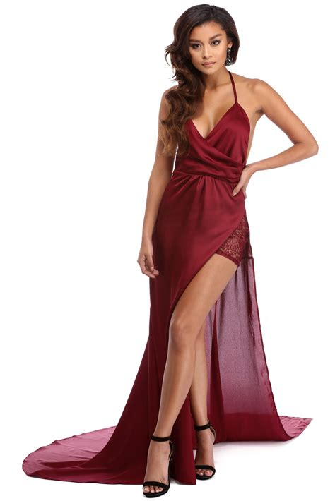 formal dresses burgundy formal dress