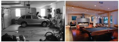Decoration before and after garage remodel to living spaces ideas