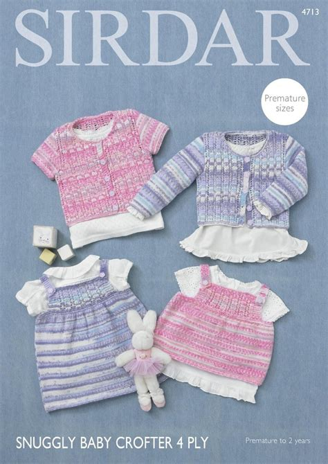 sirdar 4 ply baby knitting patterns sirdar 4713 knitting pattern baby cardigans top dress in