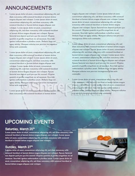 good friday service newsletter template template