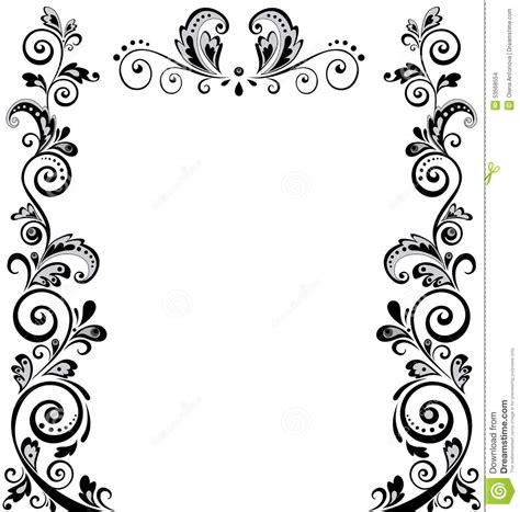 Wedding Border Design Black And White by Vintage Wedding Border Stock Vector Illustration Of