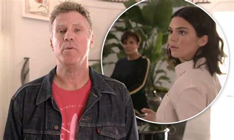 kris jenner foyer will ferrell surprises kris and kendall jenner in foyer