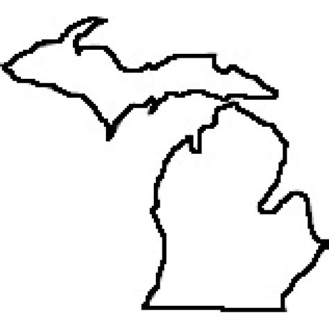 Outline Of Michigan State by State Of Michigan Outline Map Rubber St Clipart Best Clipart Best