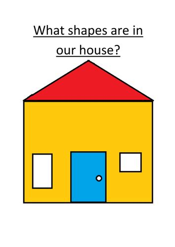 shape of house house shapes 2d shapes by bettsx teaching resources tes