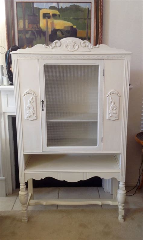 antique white china cabinet small antique white china cabinet local only