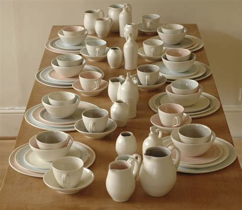handmade porcelain dinner set  linda bloomfield
