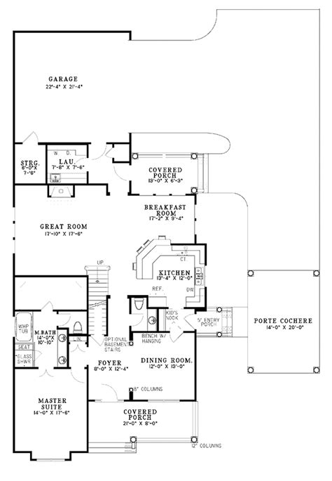 Colonial Style House Plan - 5 Beds 2.5 Baths 3046 Sq/Ft Plan #17-2858 - Dreamhomesource.com