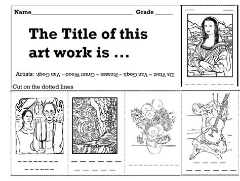 printable art history worksheets history worksheets for elementary students the arts