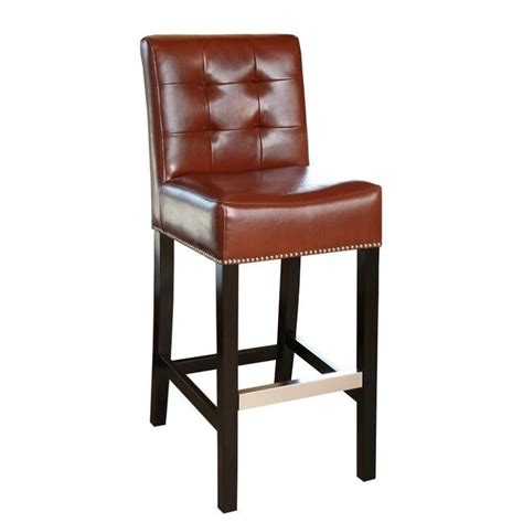 30 leather bar stools abbyson living linden 30 quot leather bar stool in red br