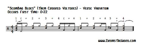 drum pattern variation how to play quot scumbag blues quot drum beat them crooked