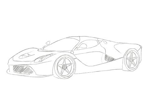 ferrari laferrari sketch laferrari sketch by xrasnovax on deviantart