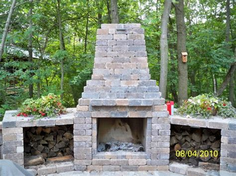 Garden Fireplaces by Outdoor Fireplaces From Prestige Landscaping Llc Garden