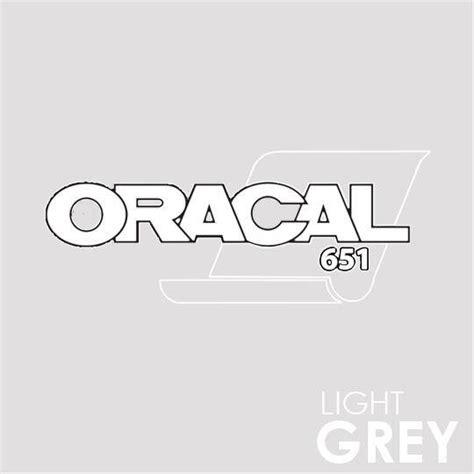 Sticker Oracal 651 Gloss oracal 651 craft vinyl wrap decal roll light grey gloss
