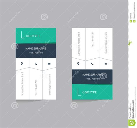 Business Card Design Presentation Template by Flat Design Vector Business Card Template Stock