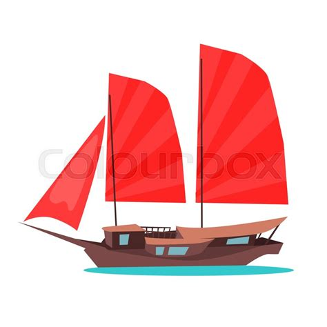 how to draw a chinese junk boat traditional wooden junk ship icon asian sailing ship with