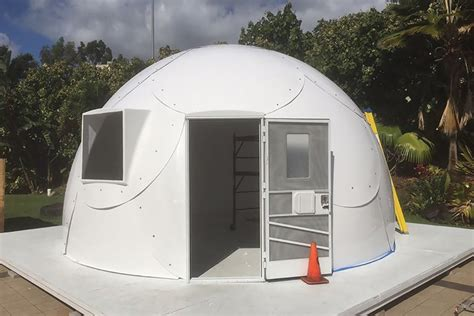 igloo house hawaiian church uses fiberglass igloos to help shelter the homeless