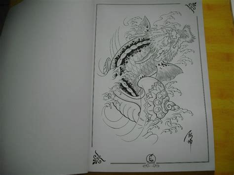 oriental tattoo art book top tattoo flash japanese style sketch book 16 quot dragon koi