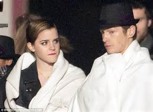 emma watson kisses handsome french co star cyril descours