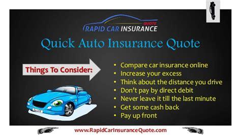 rapid fast  quick car insurance quote