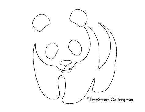 panda template panda stencil free stencil gallery
