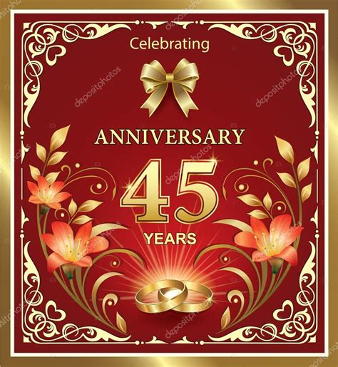 Hochzeit 45 Jahre by Anivers 225 De 45 Anos De Casamento Vetores De Stock