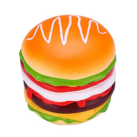 vlo squishy burger hamburger rising original box packaging bread collection decor