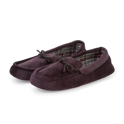 tote slippers totes mens cord moccasin slippers totes isotoner
