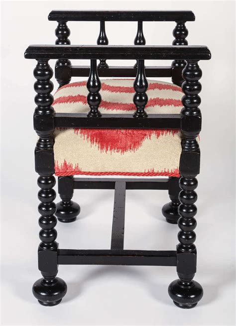 small black bench small black wooden bench at 1stdibs