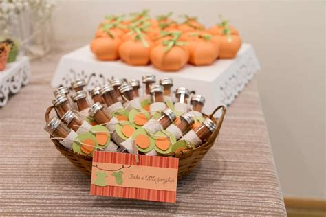 Pumpkin Baby Shower Favors by Festive Pumpkin Baby Shower Baby Shower Ideas