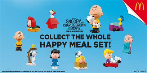 Mcd Snoopy And Brown Woodstock snoopy and other peanuts characters as mcdonald s happy