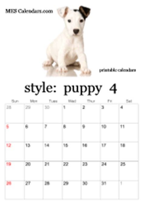 Dogs Sell Calendars Printable Puppy Calendars Templates For Calendars To