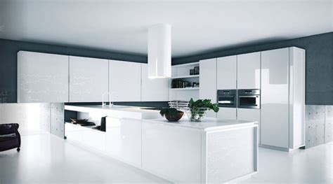 White Contemporary Kitchen Cabinets White Kitchens