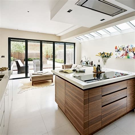 kitchen extension ideas walnut veneer kitchen extension kitchen extension design