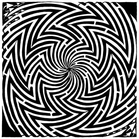 printable moving optical illusions maze advertisement yonatan frimer maze ads