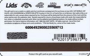 Lids Gift Card - gift card logo lids lids united states of america lids col us lids 003 sv1001199