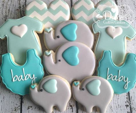 Baby Boy Shower Cookie Ideas by 25 Best Ideas About Elephant Cookies On