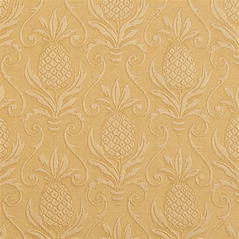gold upholstery fabric gold pineapple jacquard woven upholstery grade fabric by