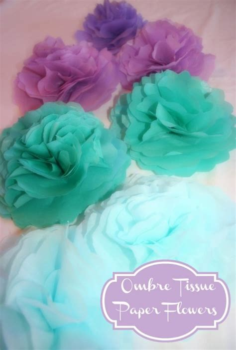 How To Make Tissue Paper Flower Centerpieces - paper flower tutorials how do it info