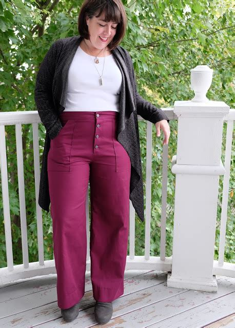 pattern magic apple peel pants cookin craftin plum week lander in organic cotton
