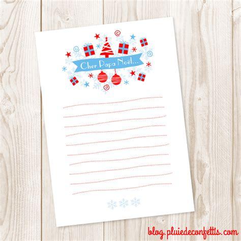 Modeles De Lettre Au Pere Noel mod 232 le de lettre imprimable pour 233 crire au p 232 re no 235 l