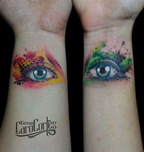 watercolor tattoo halifax watercolor ojos acuarela caro cortes