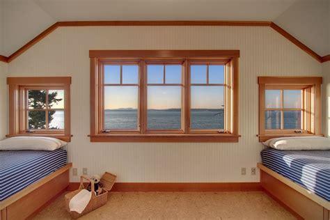 wood interior windows craftsman bedroom with wood window trim carpet in