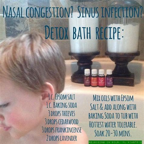 Detox Stuffy Nose by Nasal Congestion Sinus Infection Detox Bath Recipe 1 C
