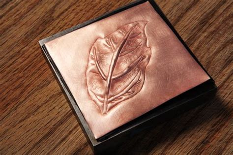 copper sheet offcuts for jewellery and repousse folksy simple low relief design here is an exercise in chasing
